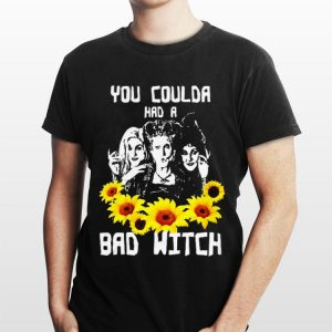 Hocus Pocus Halloween You Coulda Had A Bad Witch Sunflower shirt