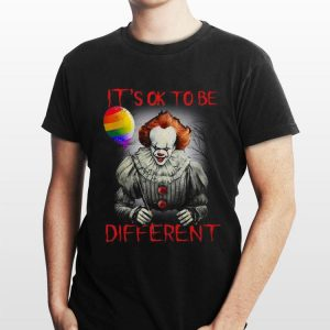 IT's Ok To Be Different LGBT Balloon Pennywise shirt