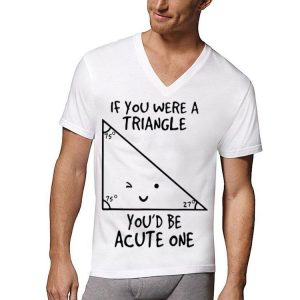 If You Were A Triangle You'd Be Acute One shirt