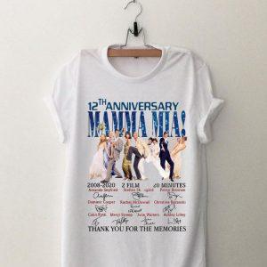 Mamma Mia 12th Anniversary Thank You For The Memories Signature shirt