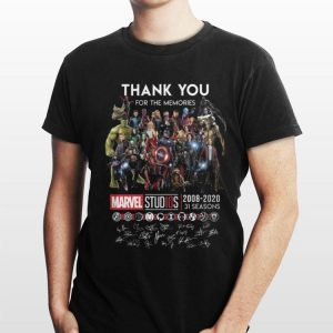 Marvel Studios 2008-2020 Signatures Thank You For The Memories shirt