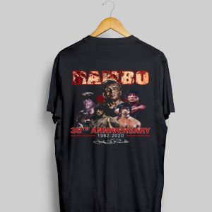 Rambo 38th Anniversary 1982-2020 Signature shirt