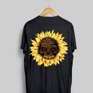 Skull Sunflower Leopard Halloween shirt