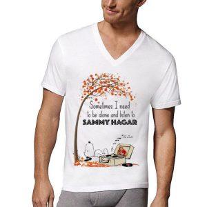 Snoopy Sometime I Need Tobe Alone And Listen To Sammy Hagar shirt