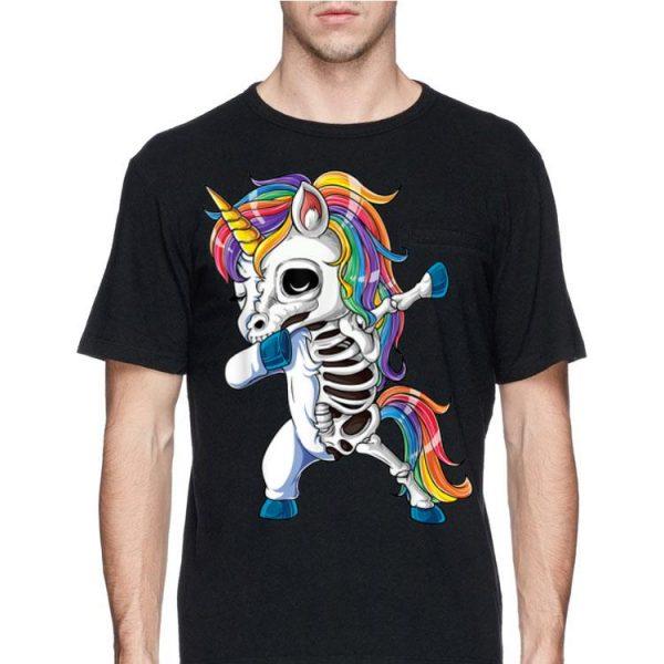 Unicorn Dabbing Skull Halloween shirt