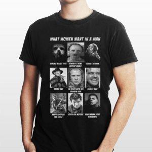What Women Want In The Man Killer Chart Halloween shirt