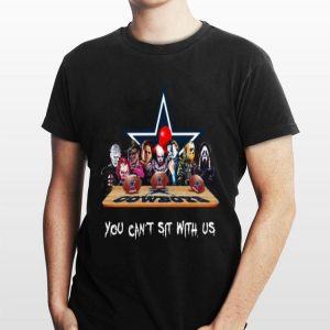 You Can Sit with US Dallas Cowboys Horror Movies Characters shirt
