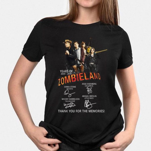 Zombieland 2 Years of 2009-2019 Thank You For The Memories shirt