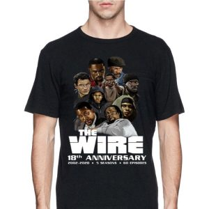 18th Anniversary The Wire 2002-2020 5 Seasons 60 Episodes shirt