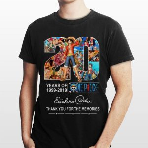 20 Years Of One Piece 1999-2019 Thank You For The Memories Signatures shirt