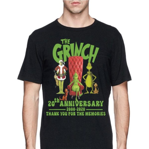 20th Anniversary The Grinch 2000-2020 Thank You For The Memories shirt