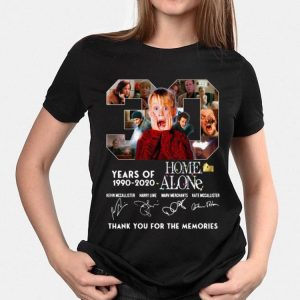 30 Years Of Home Alone Thank You For The Memories Signatures shirt