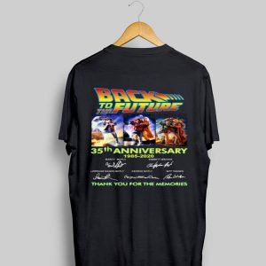 35th Anniversary Back To The Future 1985-2020 Signatures shirt