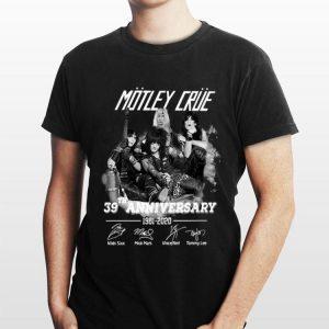 39th Anniversary Motley Crue 1981-2020 Signatures shirt