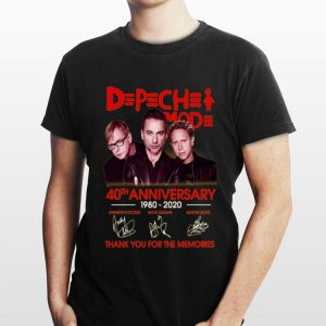 40th anniversary DPCH MOD 19820 2020 Thank You For The Memories Signatures shirt
