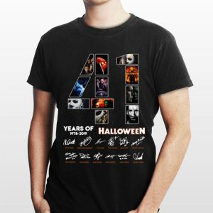 41 Years Of Halloween 1978 2019 Jason Voorhees All Characters Signatures shirt