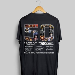 50 Years of Zz Top Thank You For The Memories Signatures shirt
