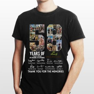 58 Years Of The Beverly Hillbillies 1962 2020 Thank You For The Memories Signatures shirt