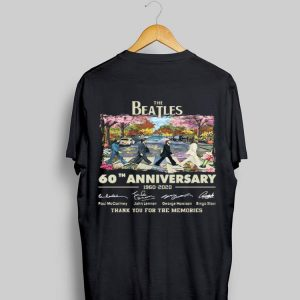 60th Anniversary The Beatles 1960-2020 Thank You For The Memories Signatures shirt