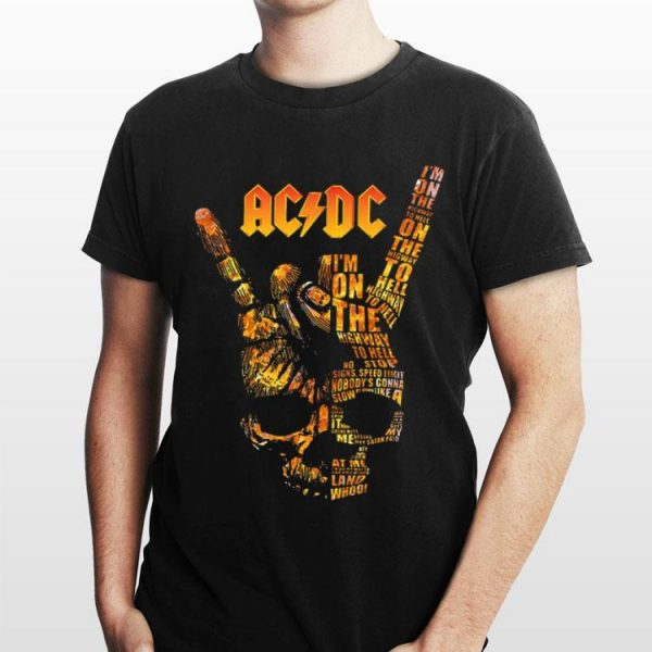 ACDC Skull Rock Hand Tee I'm On The Highway To Hell shirt