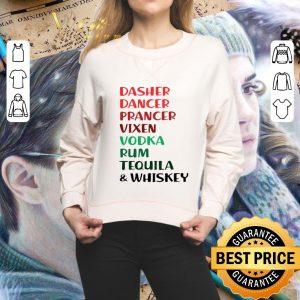Awesome Dasher Dancer Prancer Vixen Rum Tequila & Whiskey Christmas shirt