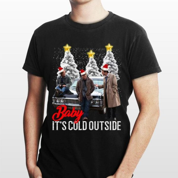 Baby It's Cold Outside Christmas Supernatural shirt