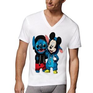 Baby Stitch And Mickey Mouse