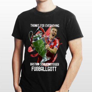 Bastian Schweinsteiger Fussballgott Thank For Everything shirt