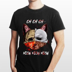Cat Face of Jason Michael Myers Freddy Krueger Leatherface Meow meow meow shirt