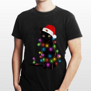 Christmas Lights Black Cat shirt