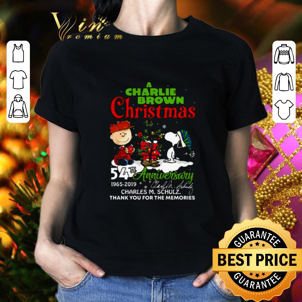 When Is Charlie Brown Christmas On.Cool A Charlie Brown Christmas 54th Anniversary Charles M Schulz Shirt Hoodie Sweater Longsleeve T Shirt