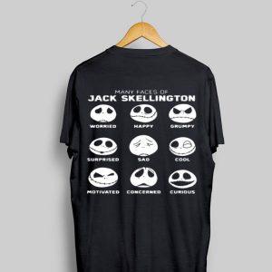 Faces Emotion Many Faces Of Jack Skellington shirt