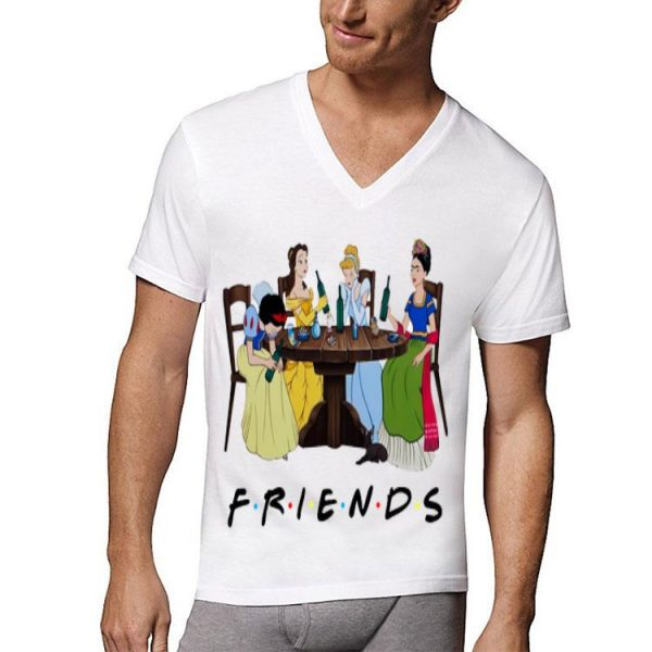 Friends TV Show Frida Kahlo And Disney Princesses shirt