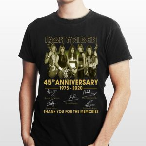 Iron Maiden 45th Anniversary 1975 2020 Thank You For The Memories Vintage shirt