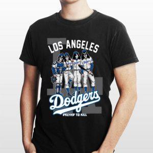 Kiss Los Angeles Dodgers Dressed To Kill shirt