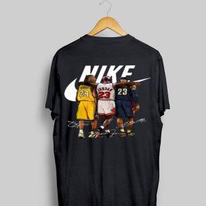 Kobe Bryant Michael Jordan And LeBron James Nike Signature shirt