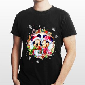 Merry Christmas Mickey Mouse And Minnie Mouse shirt