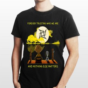 Metallica Snoopy And Charlie Brown Forever Trusting Who We Are And Nothing Else Matters Guitar Lake shirt
