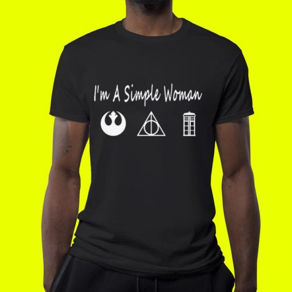 Jedi Order Deathly Hallows Police Box I'm A Simple Woman shirt