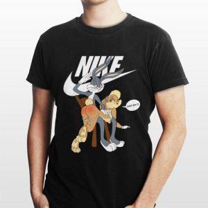 Nike Bugs Bunny spanking Lola Just Do It shirt
