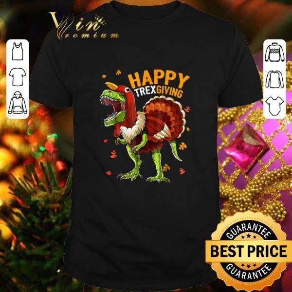 Official T-Rex Happy Trexgiving Thanksgiving shirt