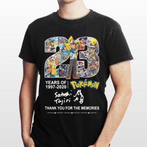 Pokemon 23 Years 1997-2020 Thank You For The Memories shirt