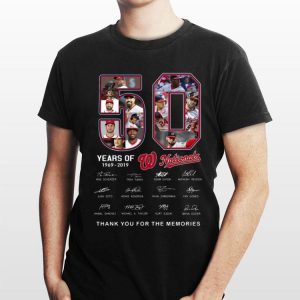Washington Nationals 50 Years Thank You For The Memories signature shirt