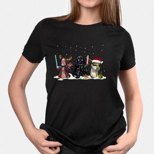 Darth Vader Yoda Palpatine Chibi Christmas Gift shirt