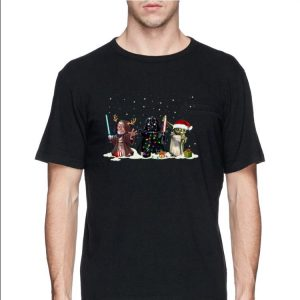 Darth Vader Yoda Palpatine Chibi Christmas Gift shirt 1