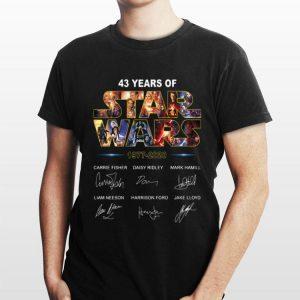 43 Years of Star War 1977 2020 Signatures shirt