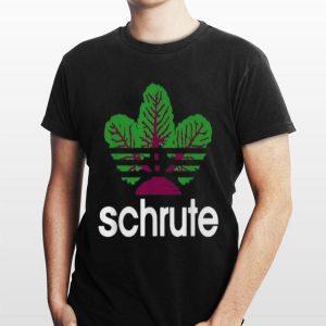 Adidas beetroot Schrute shirt