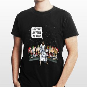 And that's how I saved the world Peanuts and Jesus shirt