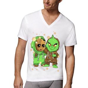Baby Groot And Grinch Mashup shirt