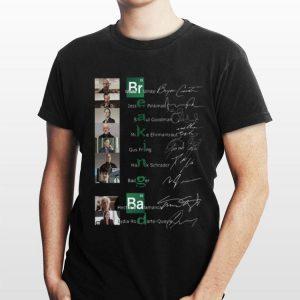 Breaking Bab Walter White Jesse Pinkman Saul Goodman Mike Ehrmantraut Gus Fring Hank Schrader signatures shirt